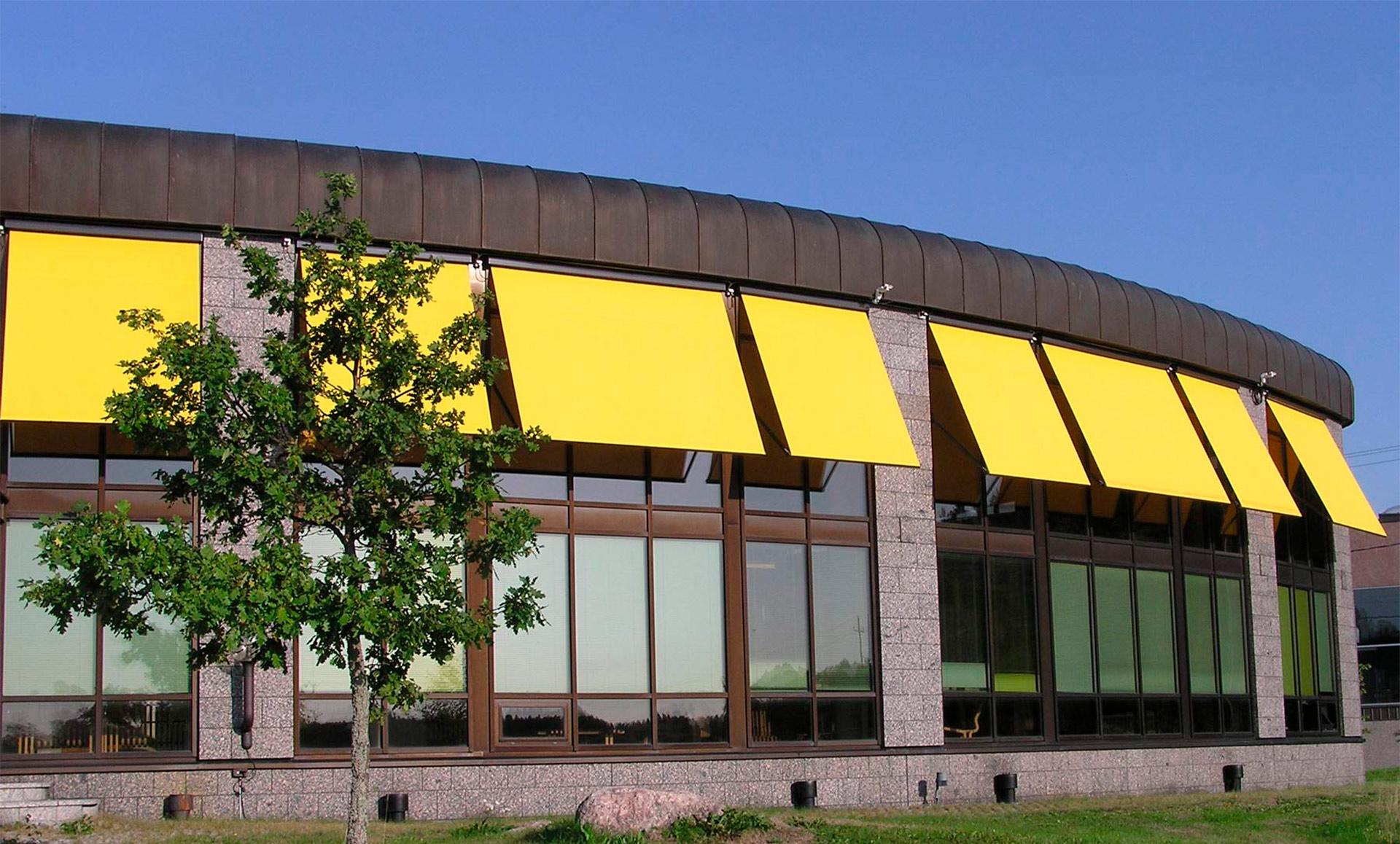 Aurinkosuojaus ikkunat rakennus Kaihdinmaailma ikkunamarkiisi