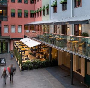 markiisi ravintolalle kahvilalle kauppakeskus yritys