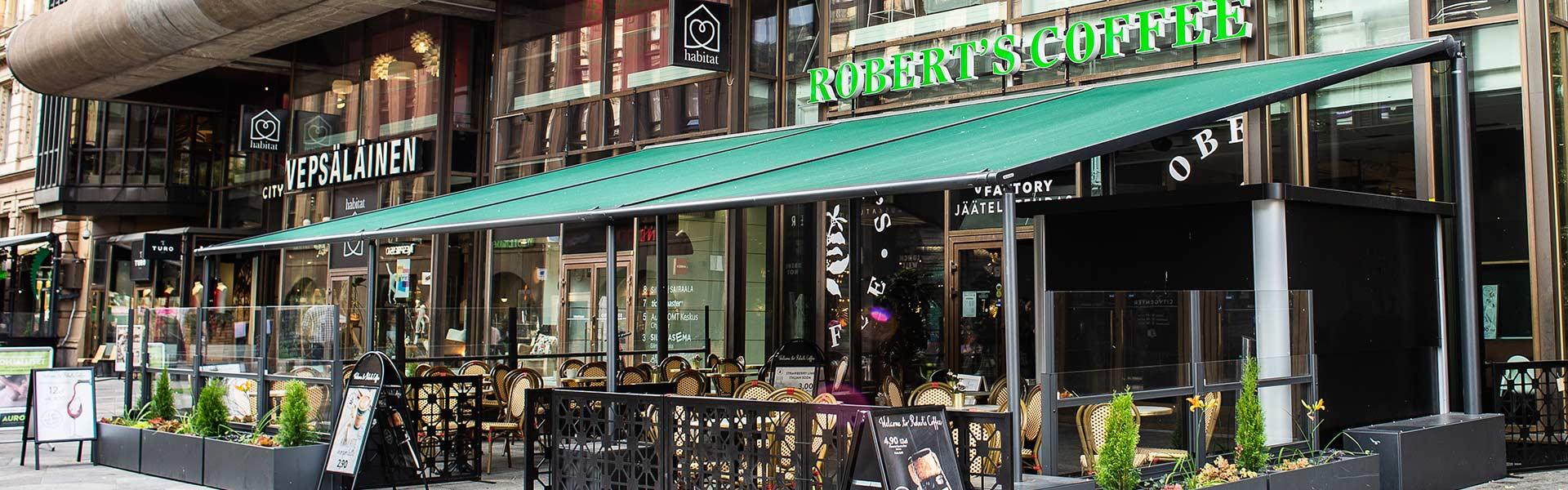 Terassimarkiisit markiisit yritykselle ravintolalle terassille kahvilalle